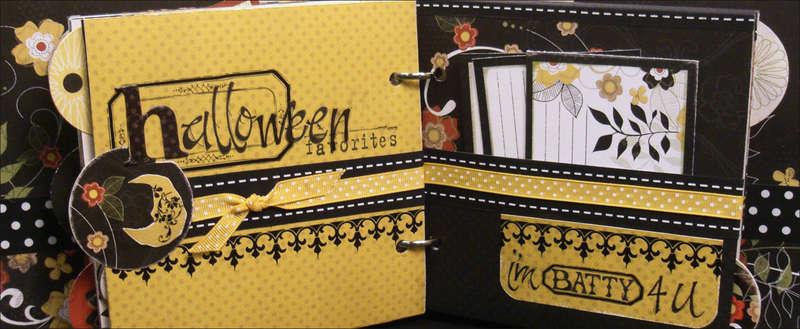 """Good Eats"" Recipe Mini Album Halloween Pages"