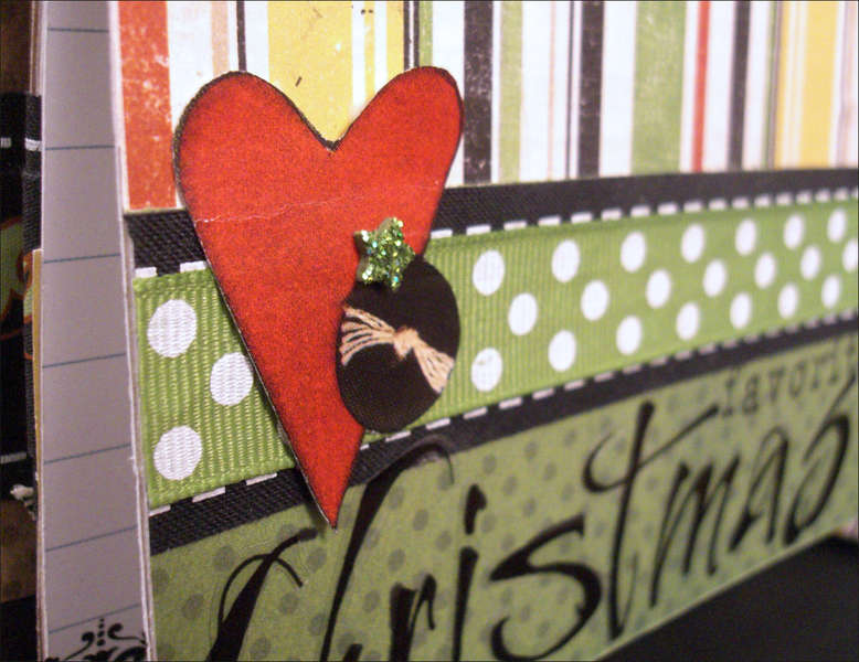 """Good Eats"" Recipe Mini Album Christmas Page Detail"