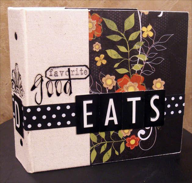 """""""Good Eats"""" Recipe Mini Album Cover"""