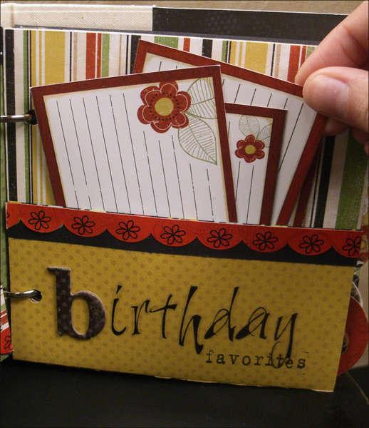 """Good Eats"" Recipe Mini Album Birthday Pocket Page"