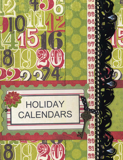 New Holiday Organizer - Holiday Calendars Section Page