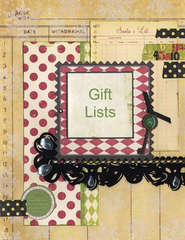 New Holiday Organizer - Gift Lists Section Page