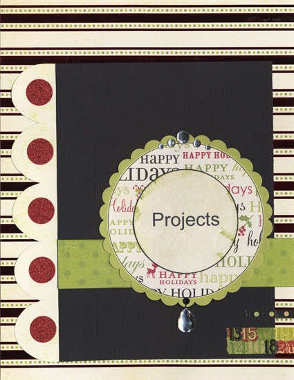 New Holiday Organizer - Projects Section Page