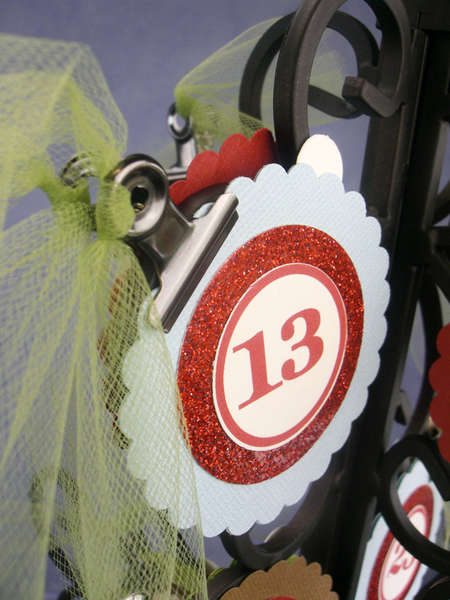 Holiday Countdown Tree (Christmas Version) - close-up of circle tag