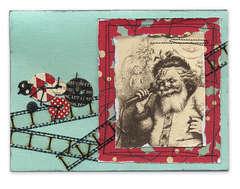 Vintage Santa Photo Card