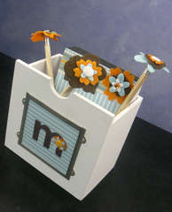 notepad holder with pencils to go with message center