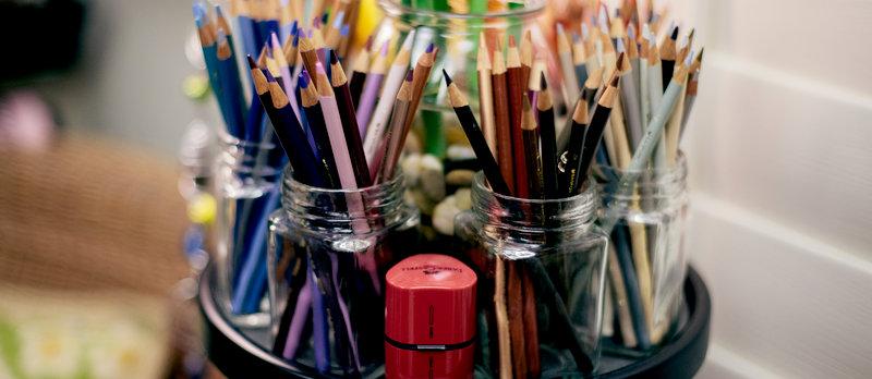Studio - Colored Pencil Organization and Storage