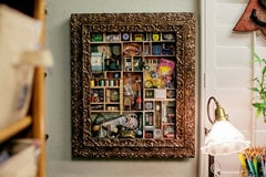 Studio: Altered Vintage Frame Becomes a Memorabilia Shadowbox