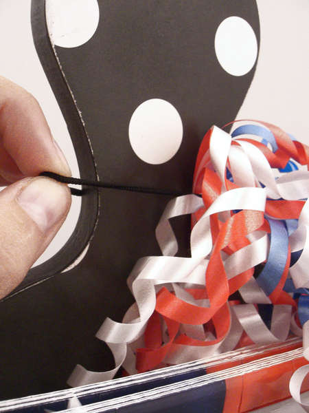 Paper Plate Holder - Patriotic Tie Detail