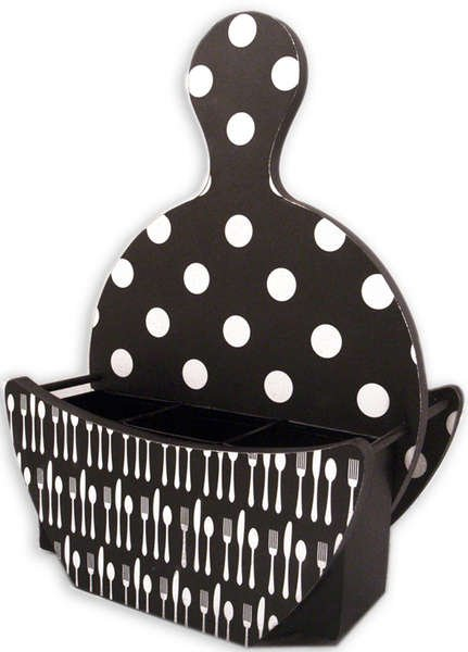 Undecorated Paper Plate Holder - Back