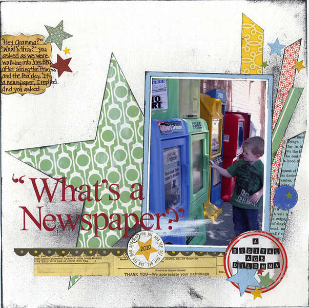 """What's a Newspaper?"" - A Layout Using Geometric Shapes"
