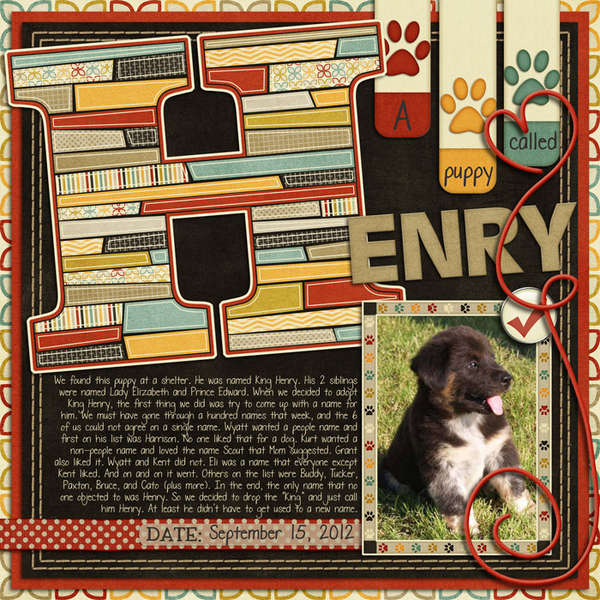 A puppy called Henry