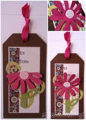 Gift Tag - Sizzix Bigz Flower Die, 3-D (Flip-Up)