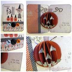 happy fall (pop-up card)