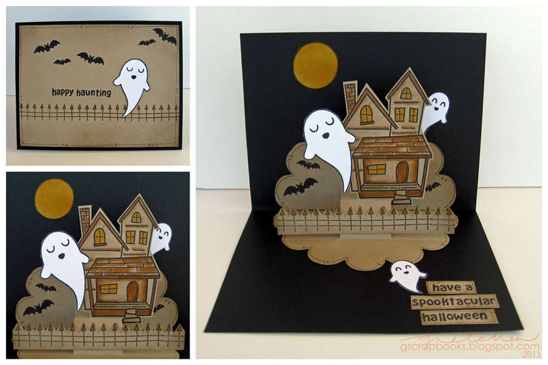 happy haunting (pop-up card)