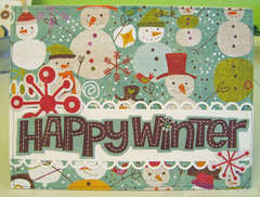 Happy Winter card - outside (for Sizzix Triple Play Blog Hop)