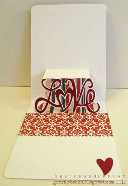 I have you in my heart card featuring Pop `n Cuts