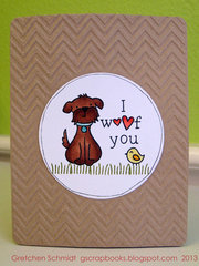 I woof you card