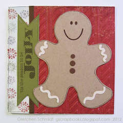 `tis the season to be jolly gingerbread man card