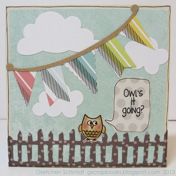 Owl's it going? Pop-Up card (front)