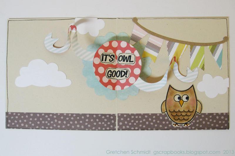 Owl's it going? Pop-Up card (inside)