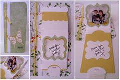 Hello card - Sizzix Bigz XL Die Pull Tag Frame Scallop