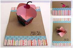 Happy Birthday card - Sizzix Bigz XL Die–Cupcakes, 3-D