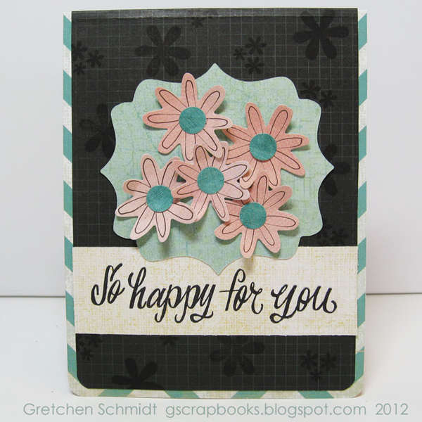 So Happy For You card (featuring Pop `n Cuts) - front