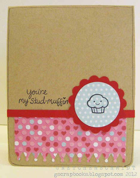 you're my stud-muffin card featuring Pop `n Cuts (outside)
