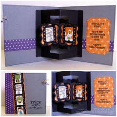 trick-or-tread card with floating frames (pop-up)