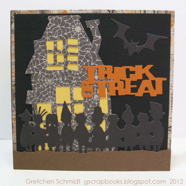 ookey-spookey trick or treat card (front - pop `n cuts)