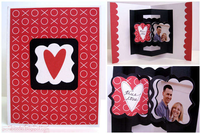 True Love card - Sizzix Bigz Die – Card w/ Floating Frames 3-D (Pop-Up)