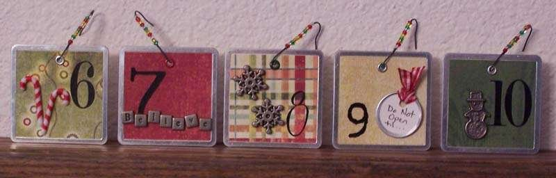 Advent Calendar Clock-Tags 2