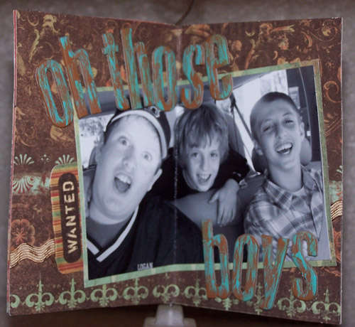 Oh Those Boys Mini Display Album - Cover