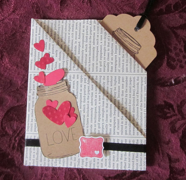 LOVE gift card or money/check holder