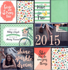 Shine, Sparkle, Dream Layout