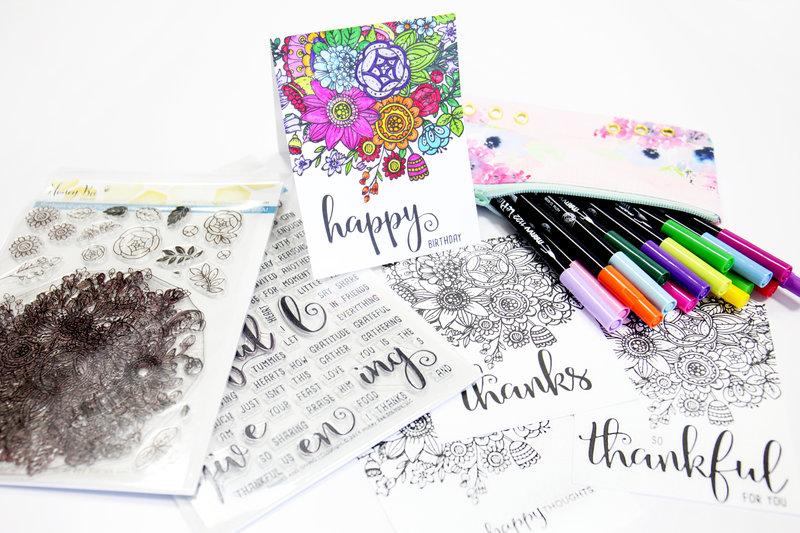 Color Me Happy Card Idea
