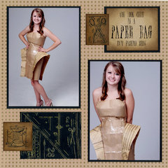 Paper Bag Dress