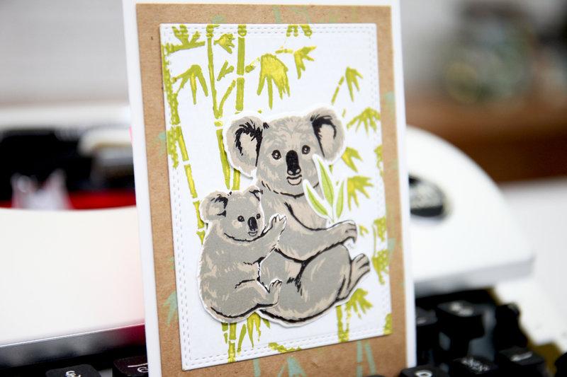 Color Layering Koala Card from Hero Arts