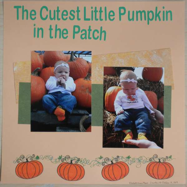 The Cutest Little Pumpkin in the Patch