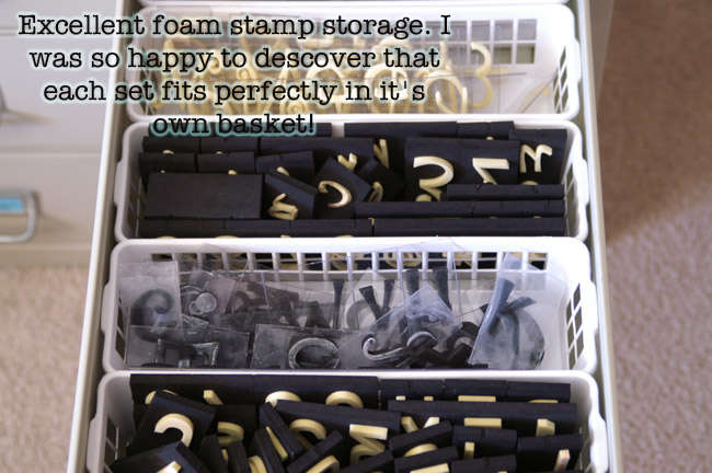 Foam Stamp Storage
