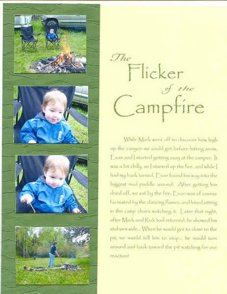The flicker of the campfire