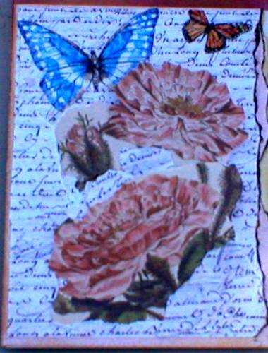 Torn flowers card