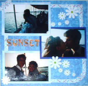 daisy wedding sunset