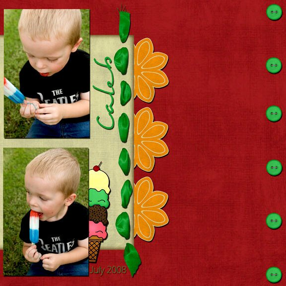 Caleb and his messy popsicle