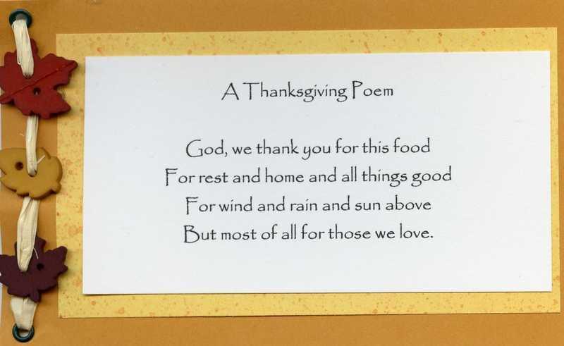 Thanksgiving Day poem