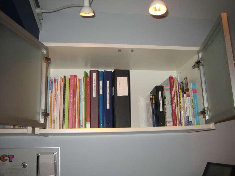 My Scraproom - Upper Storage (Right)
