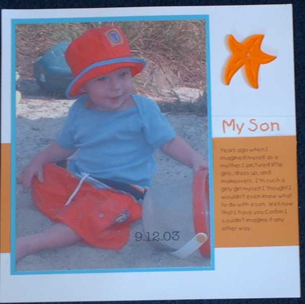 My Son (left page)