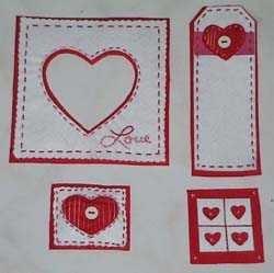 Patchwork valentine scraplift