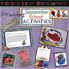 Brandon's September School Activities